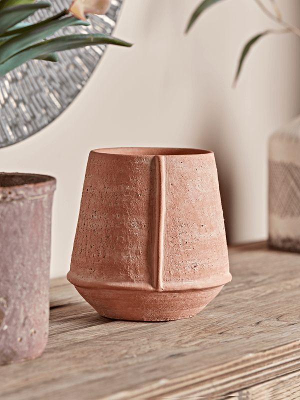 NEUER unglasierter Terrakotta-Pflanzer