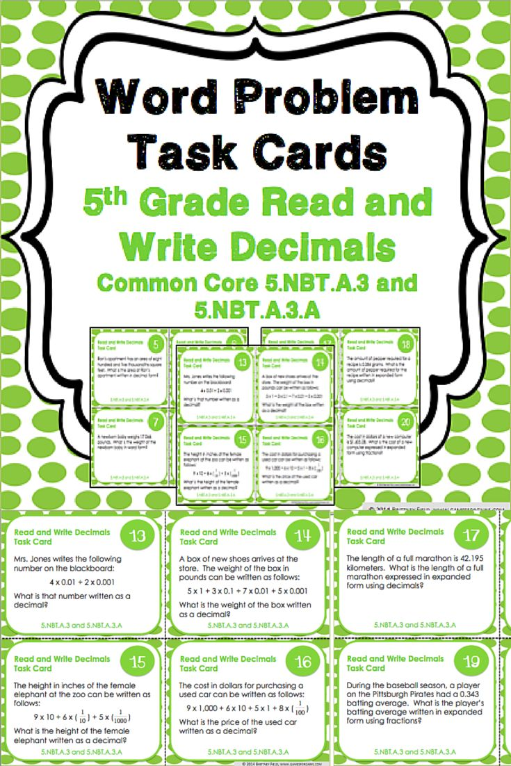 163 best 5th grade math images on pinterest mathematics school this set of decimal task cards gives you 24 different word problems for your 5th grade falaconquin