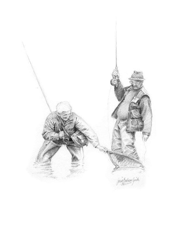 fly fisherman drawing - photo #20