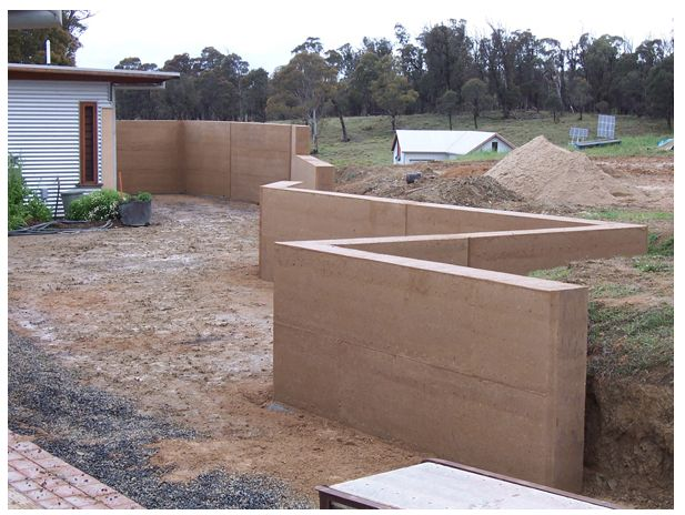 Concrete Bag Retaining Wall