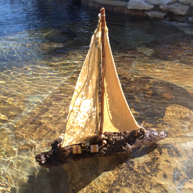 48 best ideas about driftwood sailboats on pinterest for Diy driftwood sailboat