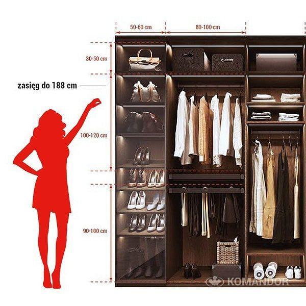 Idealna Szafa Damska Komandor Ma Na To Przepis Przepisnaszafe Meblenawymiar Szafa Garderoba Howto Ubrania Buty Wardrobe Organisation Wardrobe Home
