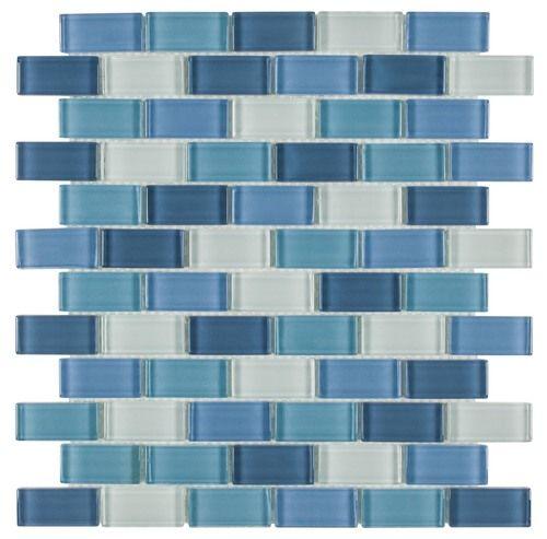 Pool Glass Mosaic Tile North Shore 1x2