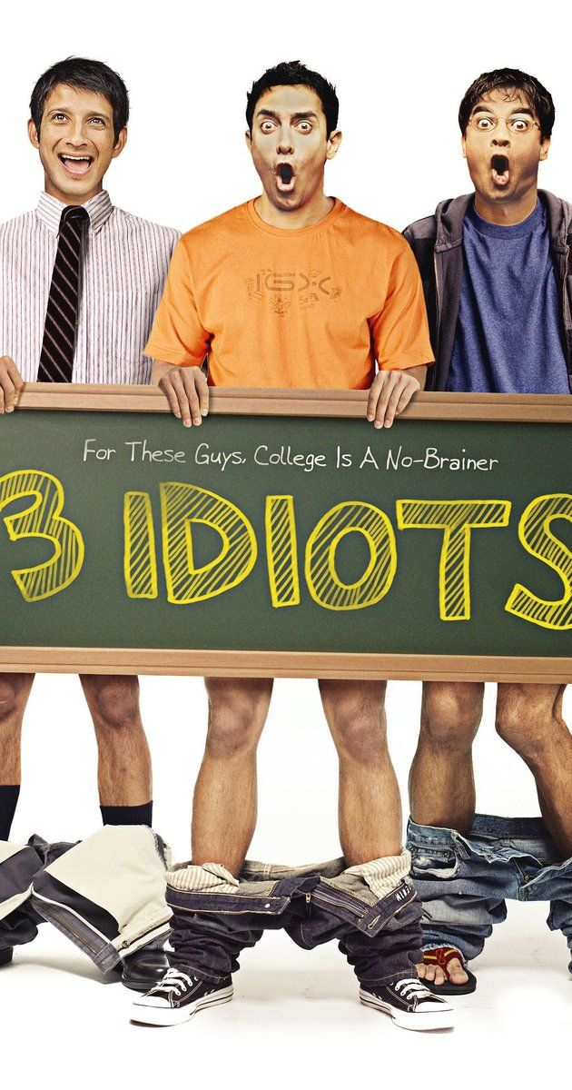 "3 Idiots - Directed by Rajkumar Hirani.  With Aamir Khan, Madhavan, Mona Singh, Sharman Joshi. Two friends are searching for their long lost companion. They revisit their college days and recall the memories of their friend who inspired them to think differently, even as the rest of the world called them ""idiots""."