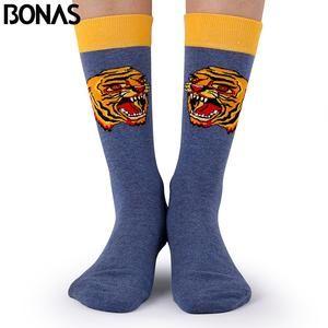 Bonas Fashion Cotton Socks 3D Tiger Print