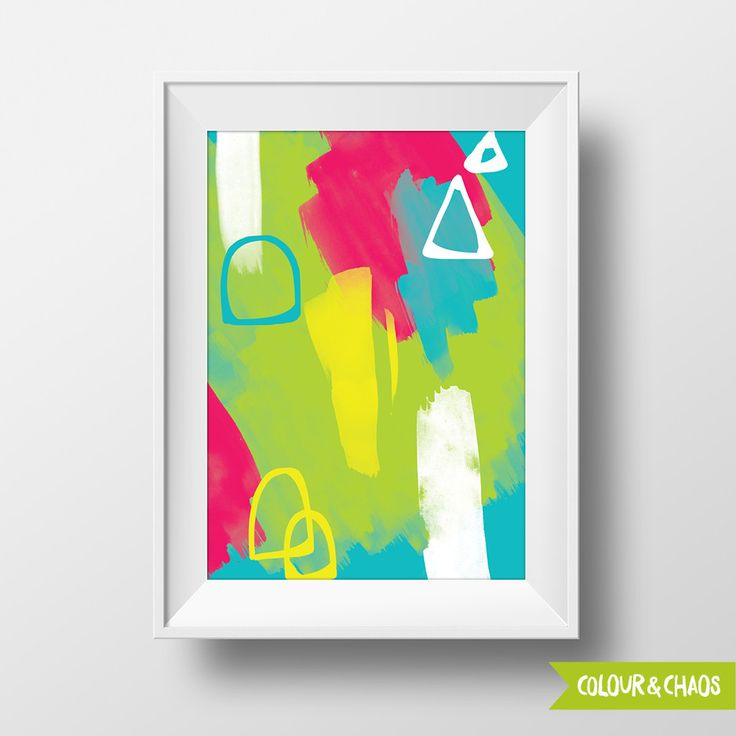 Colourful Mess A5 Print (Multi/Yellow)