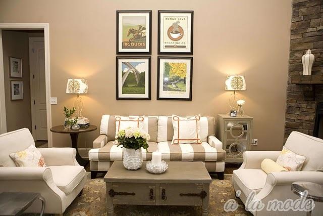 Couleur mur pour salon peinture murs pinterest homework area light oak - Salon beige et taupe ...