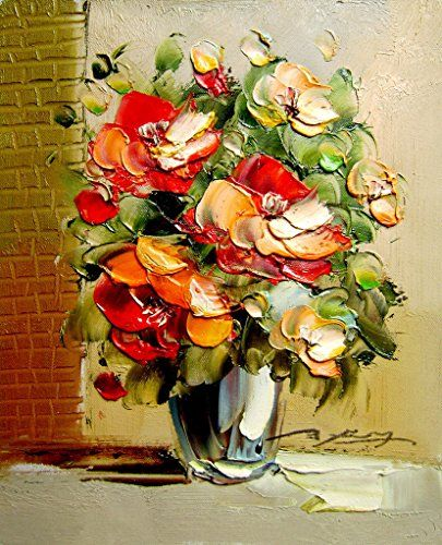 Mailingart Wooden Framed Paint By Number Flowers No Mixing Blending Canvas Diy Painting Clical S
