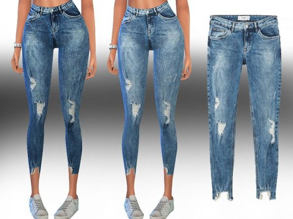abe2309ea7e The Sims Resource: New Style Mango Kimi Skinny Fit Jeans by Saliwa • Sims 4  Downloads