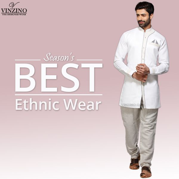 Make an ethnic #style statement by choosing from a range of #kurta pajamas, #waistcoat and #sherwanis for #men.