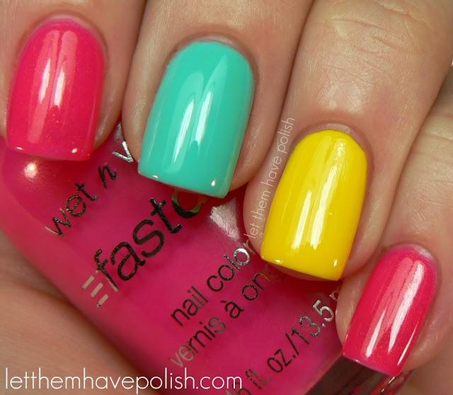 she's got awesome cuticles!!!: Makeup Nails, Nails Art, Beautiful Nails, Spring Colors, Colors Nails, Nails Polish, 31 Day Challenges, Bright Colors, Bright Nails