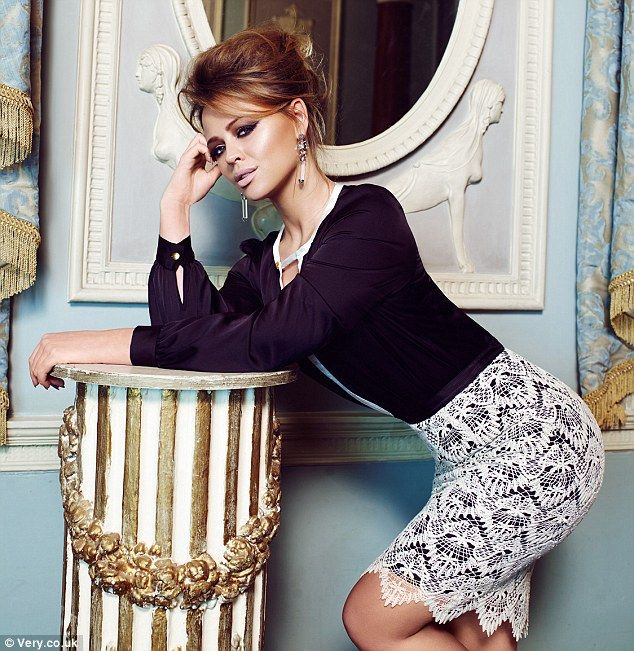 Sultry: As well as dresses, the range also includes separates, such as chic tops and pencil skirts