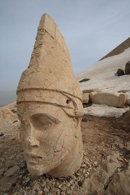Stone Head at Nemrut Dağı, Turkey