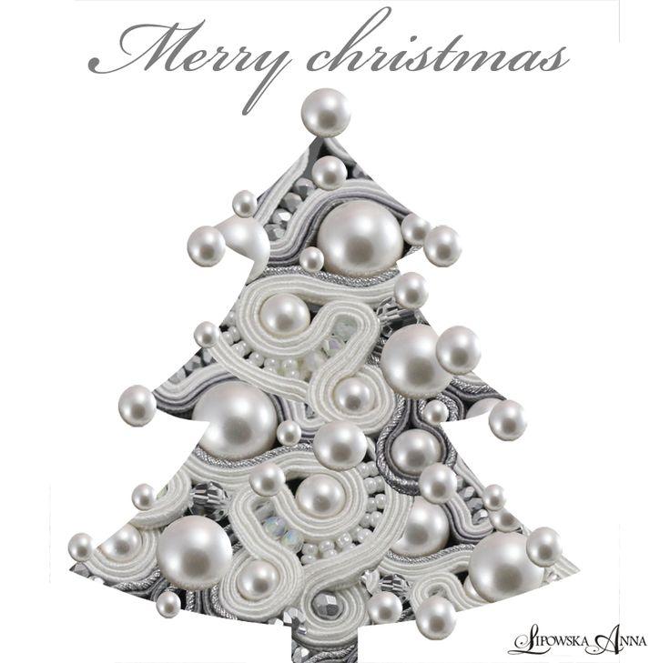 Soutache Christmas Tree BroochAnna Lipowska LiAnna biżuteria sutasz
