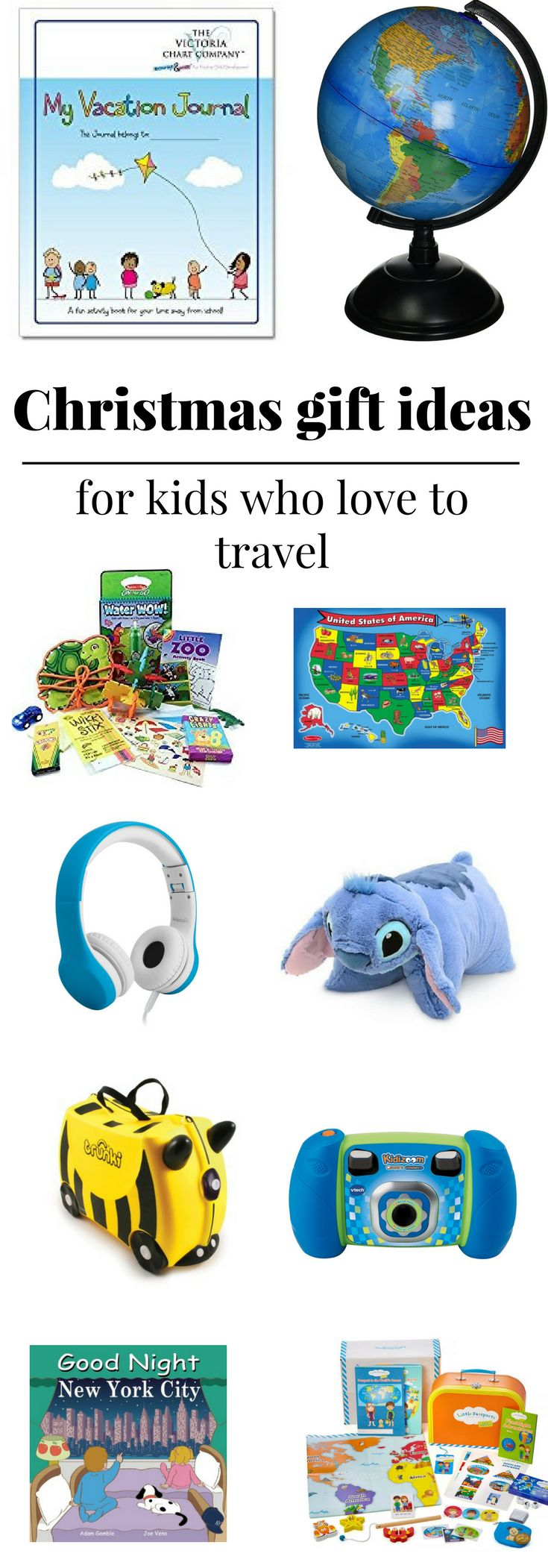 Christmas gift ideas for kids who love to travel