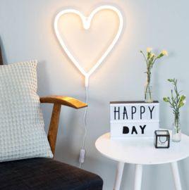 Neon Stijl Lamp   Hart   Geel   Feest   Glorious Sweets