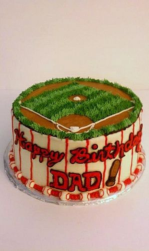 Happy Birthday Dad_baseball cake