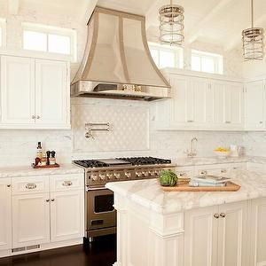 u shaped kitchens with vaulted ceilings | ... french range hood, french kitchen hood, U shaped kitchen, U kitchen