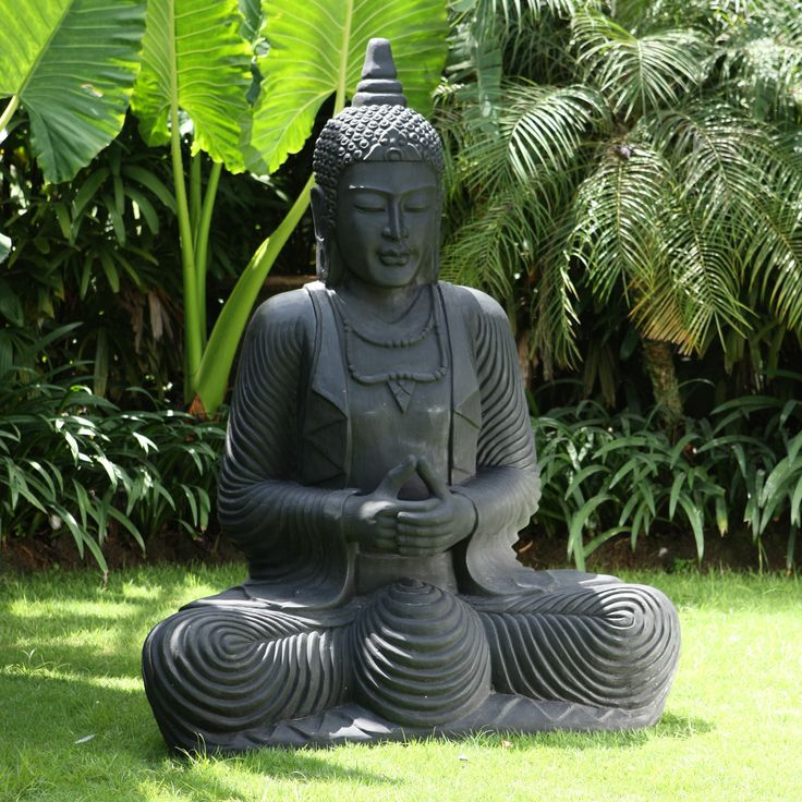 Praying Thai Buddha Stone Sculpture Large Garden Statue. Buy now at http://www.statuesandsculptures.co.uk/large-garden-statues-praying-thai-buddha-stone-sculpture