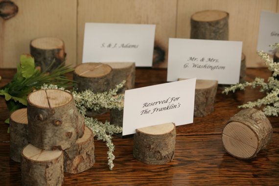Hey, I found this really awesome Etsy listing at https://www.etsy.com/listing/233770740/25-rustic-place-card-holder-escort-card