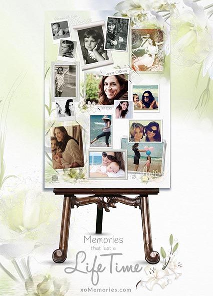 Personalised Photo Memorial Collages online. Simply upload your photos and we take care of the rest for you. Perfect for Funeral tribute or gift. View this template Now: http://xomemories.com/product/white-lily/ or explore our gallery. #tribute #ceremony #memorial #funeral #xomemories #collage