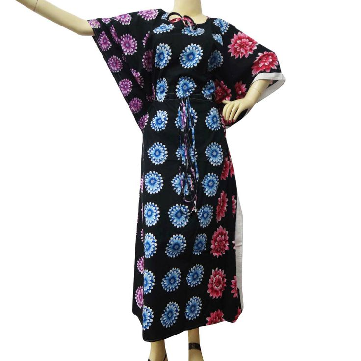 Beautiful Floral Print Long kaftan/dress. ..this is img