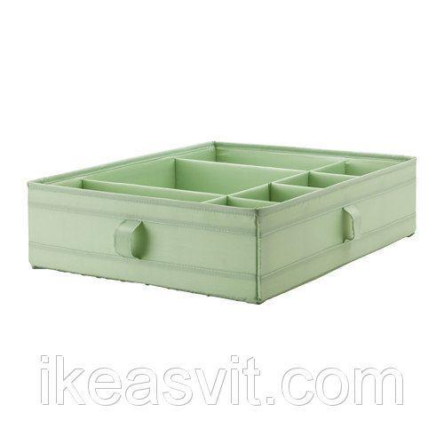"""СКУББ Ящик с отделенниями, светло-зеленый, 90299717, ИКЕА, IKEA, SKUBB: продажа, цена в Тернополе. ящики и корзины для хранения от """"IKEA - Світ"""" - 525271080"""