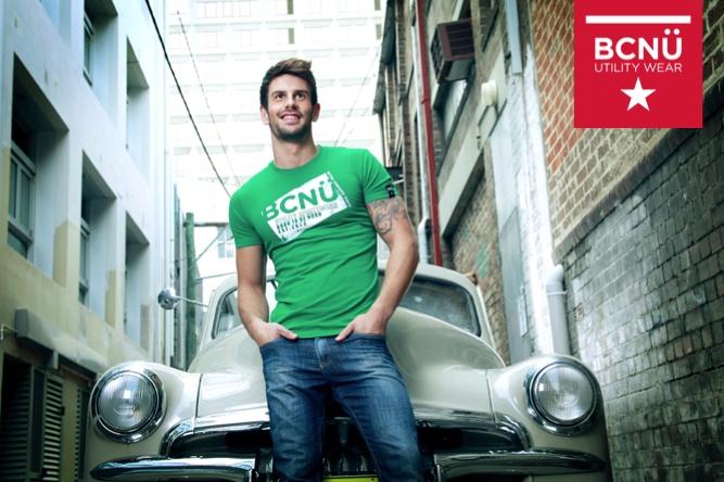 Jeremy Wearing Green UtiliTEE