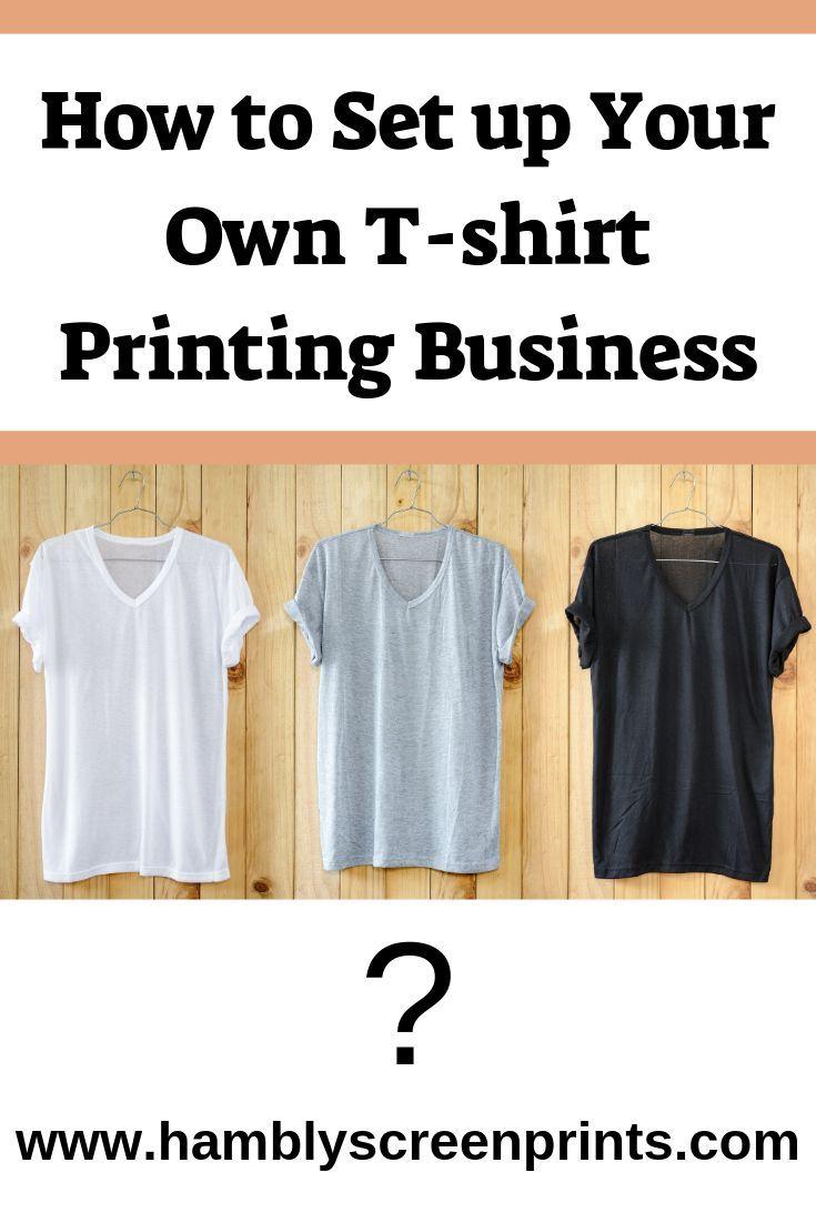 t shirt printing business start up