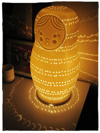 NESTING DOLL lamp - would love this for E's room :)