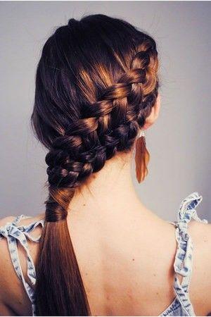 Diagonal double French braid