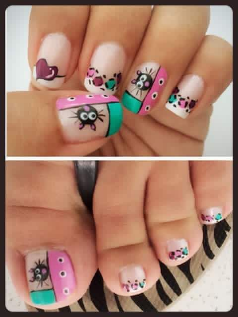 Cats nails design