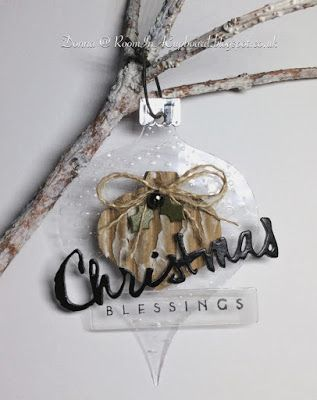 Room In A Cupboard...: Acetate Tag, Christmas 'Drop' Ornament, Female