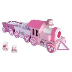 Expositor Trenecito Baby Rosa + 18 cajitas surtidas.  Este divertido y simpático trenecito de bebé rosa sorprenderá a todos tus invitados que quedarán fascinados con los bonitos detalles y acabados de este trenecito. El set incluye 18 cajitas infantiles rosas decoradas con bonitos detalles, repartidas en 2 vagones.