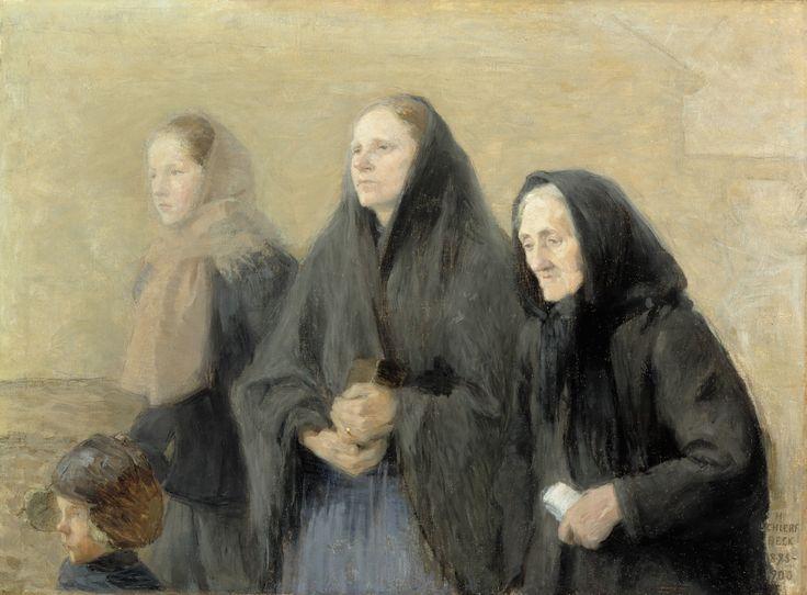 Helene Schjerfbeck: Churchgoers (Easter Morning), 1895–1900. Ateneum Art Museum. © Kuvasto. Photo: Finnish National Gallery, Central Art Archives / Hannu Aaltonen