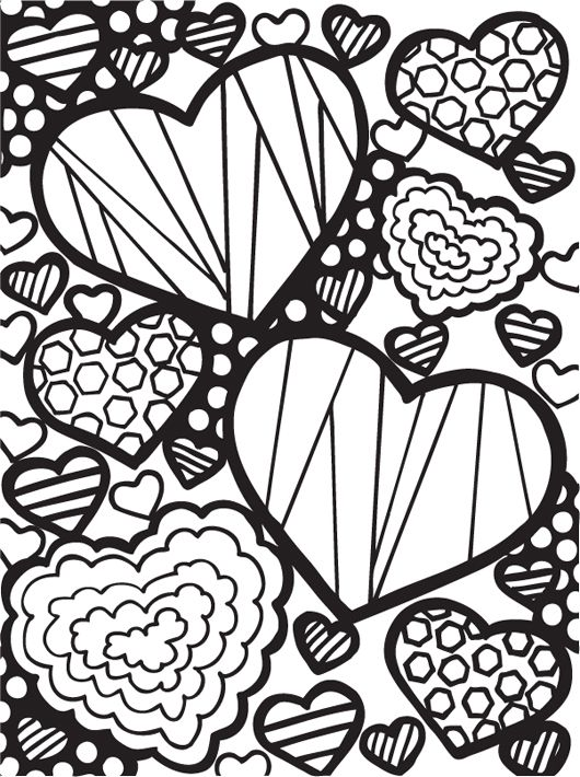 2067 best HEARTS VALENTINES images on Pinterest Paper cut outs - new love heart coloring pages to print