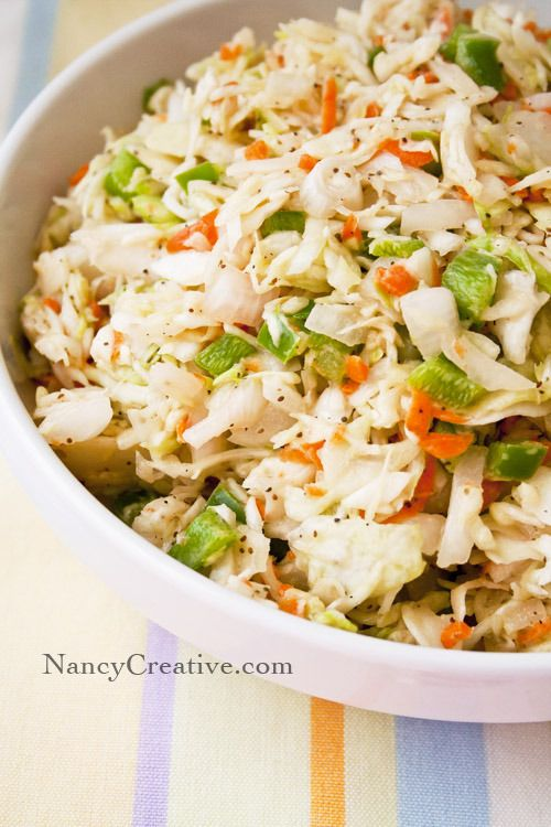 Tangy Honey Coleslaw...a great picnic side dish!