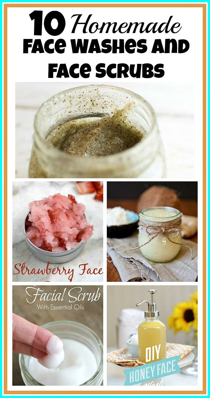 10 Homemade Face Washes & Scrubs - Why spend money on something you can easily make at home? Plus, did you know your commercial face wash may be making your skin's condition worse? Do what's best for your skin and make a homemade face wash and face scrub!