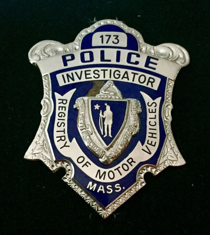 Investigator, Registry of Motor Vehicles, Mass. State Police