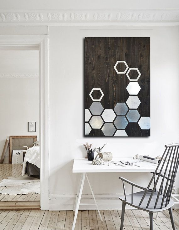 Modern Wall Art   Metal Wall Art   Wall Art Wood   Geometric Art   Wood Art    Modern Painting   Metal Wall Decor   Contemporary Wall Art