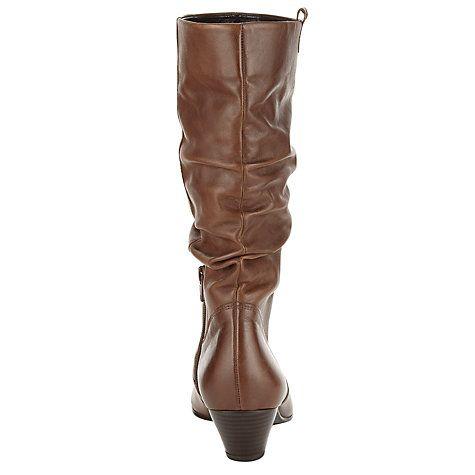 Buy Gabor Rachel Leather Knee Boots Online at johnlewis.com