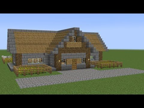 http://minecraftstream.com/minecraft-tutorials/minecraft-how-to-build-a-survival-house-2/ - Minecraft - How to build a survival house 2 Minecraft Building Series: The second tutorial on how to build a survival house in Minecraft. This starter build features a farm and an appertaining house. Very easy to build. Shock Frost 2017