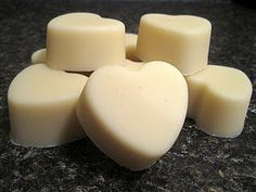 """Lavender Love Lotion Bars  I have purchased a few """"massage bars"""" from Lush before, so when I saw this recipe for homemade lotion bars on Crunchy Betty, I was excited to try it out.    What you need:  -equal parts: beeswax, shea butter, carrier oil of choice (I used sweet almond oil) 3 oz or about 1/2 c each  -15 drops of essential oil of choice (optional, I used lavender)"""