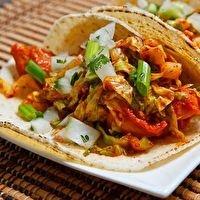 Korean Spicy Bbq Chicken Tacos by www.closetcooking.com