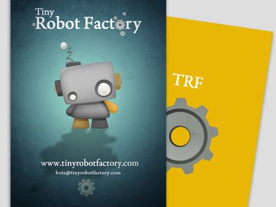 Tiny robot factory business cards