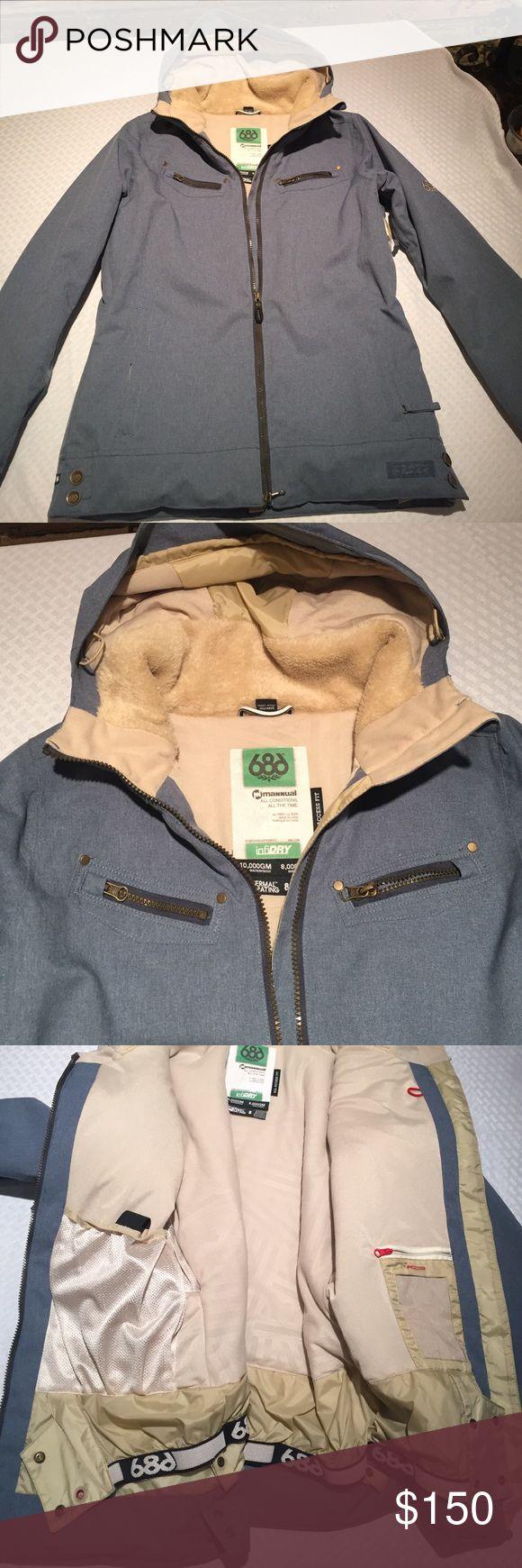 Never worn 686 snowboarding jacket Slate blue 686 snowboarding jacket, never worn Jackets & Coats Utility Jackets
