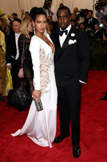 Cassandra Ventura and Sean Combs at the Met Gala 2015. Click on the image to see more looks.
