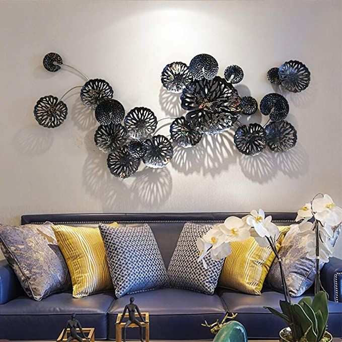 Metal Wall Art Decor Flower Shaped Wall Art Sculpture Elegant Hollowed Designed Metal Wall Hanging In 2020 Wall Murals Bedroom Hanging Wall Decor Metal Wall Sculpture