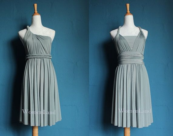 gray dresses for weddings | Dress Convertible Dress Woman Dress Evening Wedding Bridesmaid Dress ...