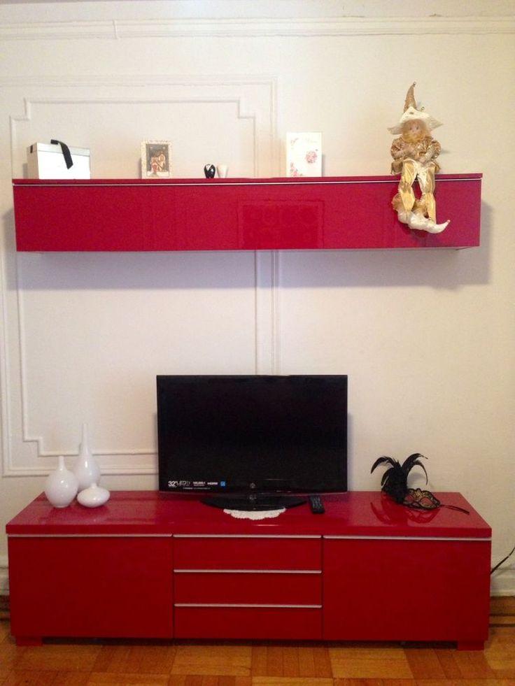Besta Burs TV Stand + Wall Shelf  Tv Stands, Wall Shelves and eBay